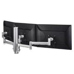 Atdec Awm Triple Monitor Arm Solution - 710MM &Amp; 130MM Articulating Arms - 400MM Post - Grommet Clamp - Black