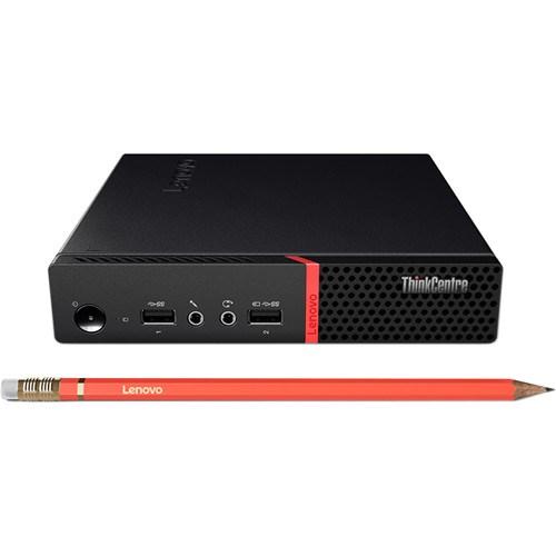 Lenovo ThinkCentre M710q 10MRA02CAU Desktop Computer - Intel Core i7 (7th Gen) i7-7700T 2.90 GHz - 8 GB DDR4 SDRAM - 256 GB SSD - Windows 10 Pro 64-bit
