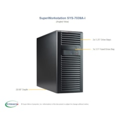 Supermicro Sys-7039A-1 TWR 1 Silver 4110 8C/16T 2.1G 32GB DDR4 512GB M2.0 + 240GB SSD Tower, Win10 Pro
