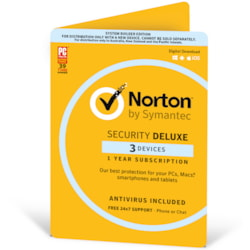 Norton Security Deluxe 2018, 3 Device, 12 Months, PC, Mac, Android, Ios, Oem