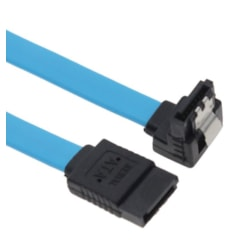 Astrotek Sata 3.0 Data Cable 50CM Male To Male 180 To 90 Degree With Metal Lock 26Awg Blue LS