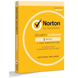 Norton Security Standard 1 Device Retail Box - Compatible With PC, Mac, Android, Ios 1 Year