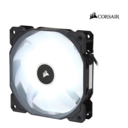Corsair Air Flow 120MM Fan Low Noise Edition / White Led 3 Pin - Hydraulic Bearing, 1.43MM H2o. Superior Cooling Performance And Led Illumination