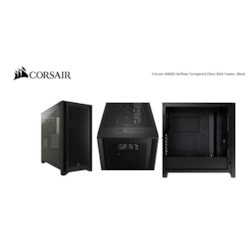 Corsair Carbide Series 4000D Airflow Atx Tempered Glass Black, 2X 120MM Fans Pre-Installed. Usb 3.0 X 2, Audio I/O. Case