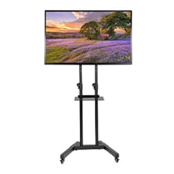 Trolley Dollies Convertible Flat Panel Trolley For TV & Touch Panel Electric Height Adjustable