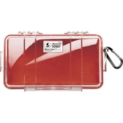 Pelican 1060 Micro Case - Clear With Red