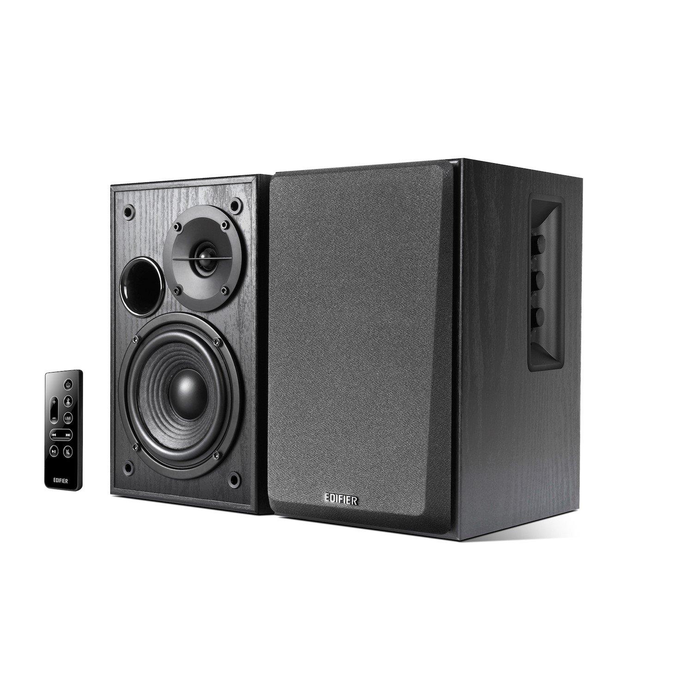 Edifier R1580MB - 2.0 Lifestyle Active Bookshelf Bluetooth Studio Speakers Black - BT/AUX/Dual Mic 42W