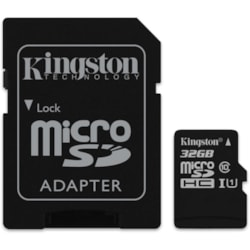 Kingston 16GB MicroSD SDHC SDXC Class10 Uhs-I Memory Card 100MB/s Read 10MB/s Write With Standard SD Adaptor ~FMK-SDCS-16 SDCS/16G
