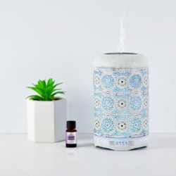 Mbeat® Activiva Metal Essential Oil And Aroma Diffuser-Vintage White -260ML