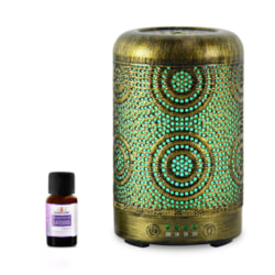 Mbeat® Activiva Metal Essential Oil And Aroma Diffuser-Vintage Gold -100ML