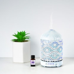 Mbeat® Activiva Metal Essential Oil And Aroma Diffuser-Vintage White -100ML