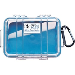 Pelican 1020 Micro Case - Clear With Blue