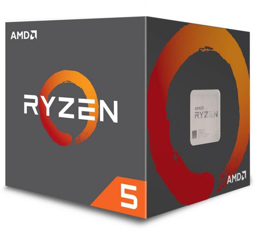 Amd Ryzen 5 2600X, 6 Cores Am4 Cpu, 4.25GHz 19MB 95W w/Wraith Spire Cooler Fan Box