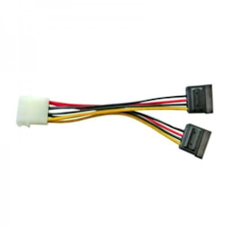 8Ware Molex Power Splitter Cable 1 X Molex F To 2 X Sata Iii 15Pin - 15CM