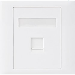 Astrotek CAT5e RJ45 Wall Face Plate 86X86MM 1 Port Socket Kit