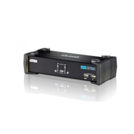 Aten 2 Port Usb 2.0 Dvi KVMP Switch. Support HDCP, Video DynaSync, Single Link, Audio, Mouse Emulation, Keyboard Emulation