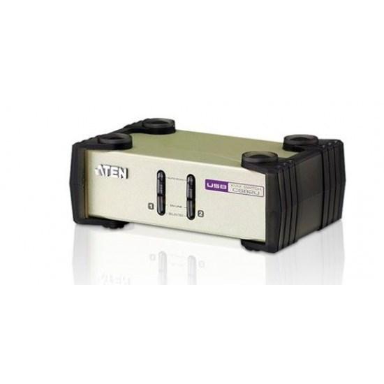 Aten 2 Port Usb & PS/2 Vga KVM Switch. Support Video DynaSync, Mouse Emulation, Keyboard Emulation