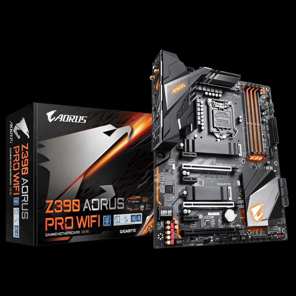 Gigabyte Z390 Aorus Pro Wifi Lga1151 9Gen Atx MB 4xDDR4 6xPCIe Hdmi 2xM.2 6xSATA Raid Intel GbE Lan 2xUSB-C 7xUSB3.1 BT WiFi RGB