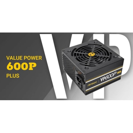 Antec VP600 Plus 600W Psu. 120MM Silent Fan, Plus 2019 Version. Meps Compliant. 3 Years Warranty