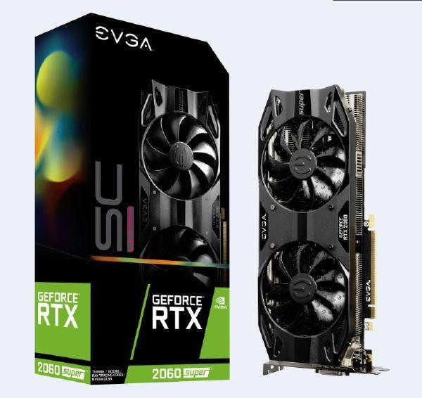 Evga GeForce RTX 2060 Super SC Ultra Gaming, 8GB, GDDR6, Pcie, Dual HDB Fans, Hdmi 2.0B, DisplayPort 1.4 And Dual-Link Dvi, HDCP 2.2