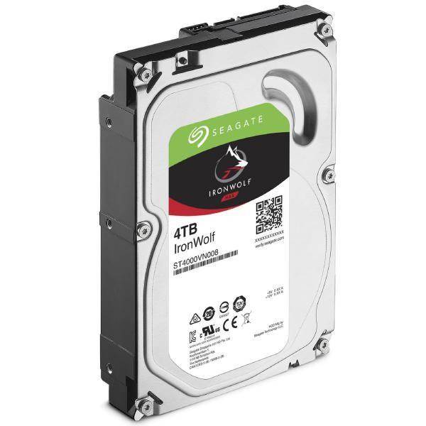 """Seagate NQR Seagate IronWolf Nas HDD 3.5"""" Internal Sata 4TB Nas HDD, 5900 RPM, RV Sensors, 3 Year Warranty"""