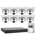 Uniview Restaurant Pack - 8 X 5MP Fixed Turret Dome + 8CH NVR With 4TB HDD