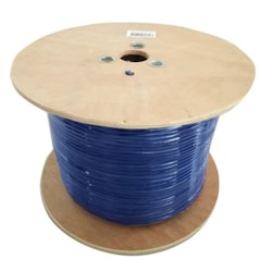 8Ware Cat6 Cable Roll 350M Blue Bare Copper Twisted Core PVC Jacket