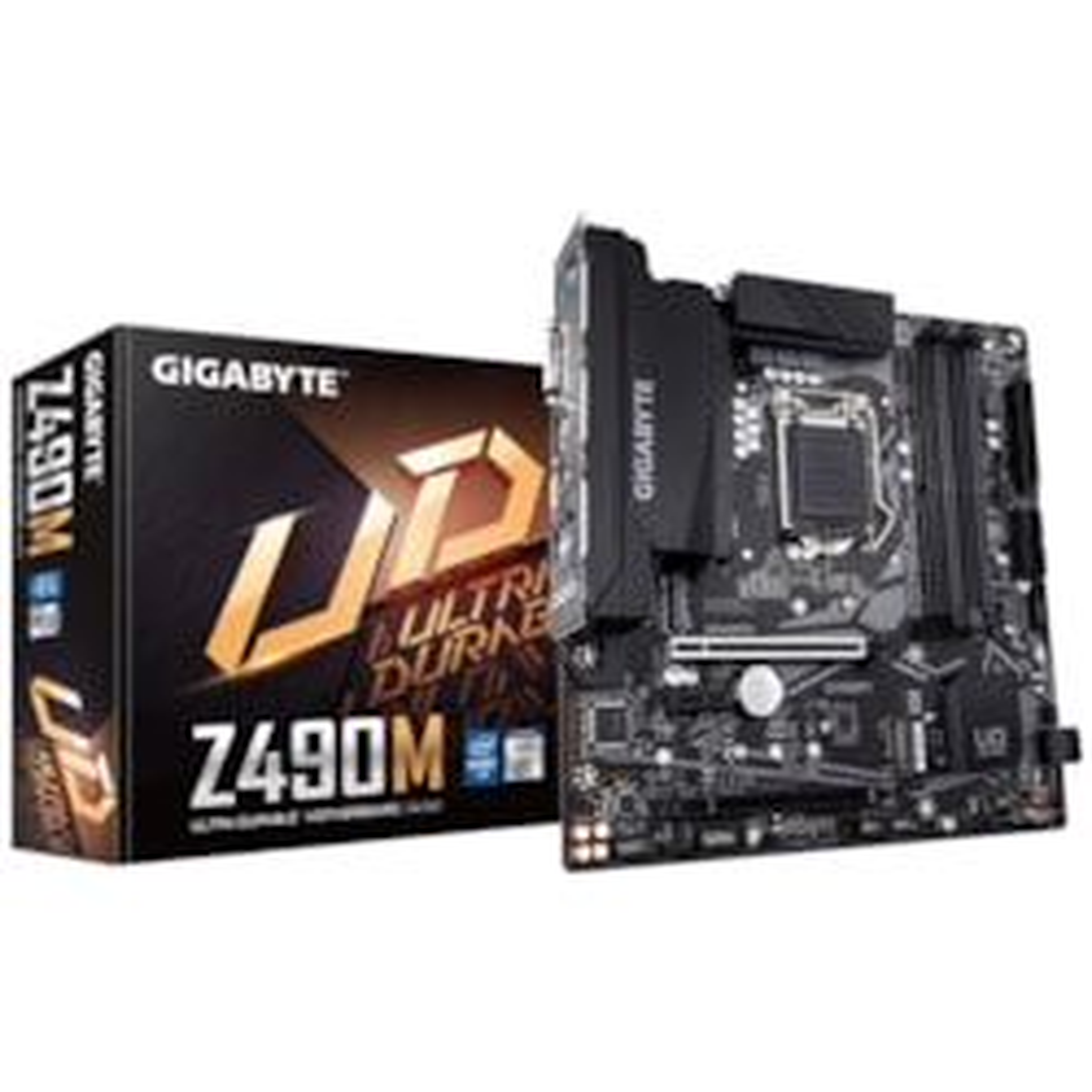 Gigabyte Z490M Intel Micro Atx Motherboard 4xDDR4 3xPCIe 1xM.2 6xSATA Raid (1000 Mbit/100 Mbit) Lan Crossfire RGB 1xDP 1xHDMI Dvi-D 1xUSB3.2 2xUSB2.0
