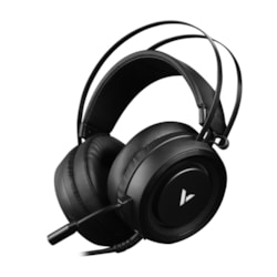 Rapoo VH500 Illuminated RGB Glow Gaming Headsets Black - 16M Colour Breathing Light Hidden Noise-Cancelling Microphones