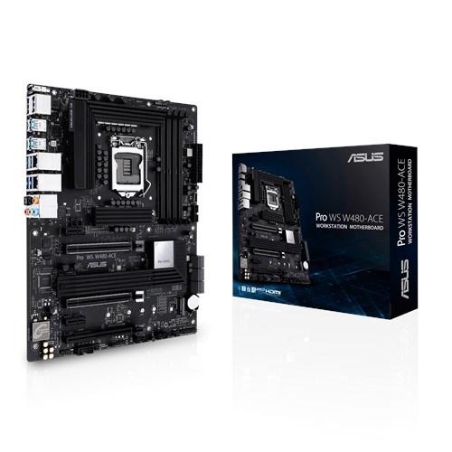 Asus Pro WS W480-Ace Atx Workstation MB, Lga 1200 For Intel Xeon W-Series, DDR4-2933 Ecc, Acc Express, Dual Lan, RTL8117, Dual Type-C Thunderbolt 3