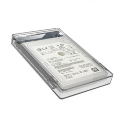 Simplecom Se203 Tool Free 2.5' Sata HDD SSD To Usb 3.0 Hard Drive Enclosure - Clear Enclosure