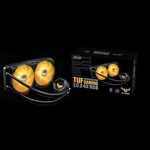 Asus Tuf Gaming LC 240 RGB All-In-One Liquid Cpu Cooler, Aura SYNC, Dual Tuf 120MM RGB Radiator Fan, Am4 Intel Lga 1200, 115X 1366