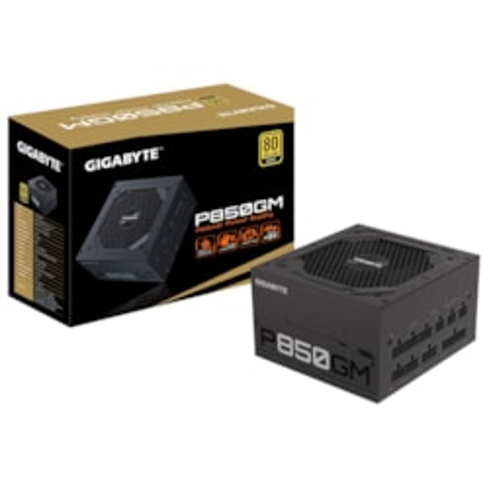 Gigabyte P850GM Power Supply, 850W, 80 Plus Gold, Modular, 5YR WTY