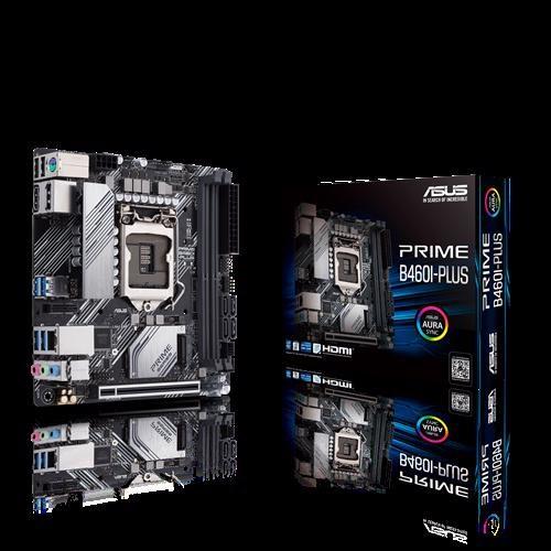 Asus Prime B460i-Plus B460 (Lga 1200) Mini-ITX Motherboard With Aura SYNC RGB Header, M.2, DDR4 2933MHz, Hdmi, DisplayPort, Usb 3.2 Gen 1 Ports