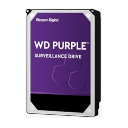 Western Digital WD Purple 4TB 3.5' Surveillance HDD 5400RPM 64MB Sata3 6Gb/s 150MB/s 180TBW 24X7 64 Cameras Av NVR DVR 1.5Mil MTBF 3YRS