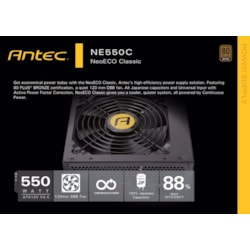 Antec Neo Eco 550Cv2 550W Psu 80+ Bronze, 120MM DBB Fan, Thermal Manager, High Perforamnce Japanese Capacitors, Atx Psu, 5 Years Warranty