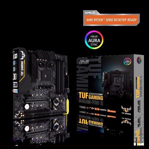 Asus Tuf Gaming B450m-Pro Ii Amd B450 (Am4) Micro Atx Gaming Motherboard Dual M.2, PCIe 3.0, Hdmi, DisplayPort, Usb 3.2 Gen 2 Type-A Type-C RGB