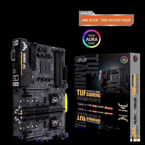 Asus Tuf Gaming B450m-Plus Ii Amd B450 (Am4) Micro Atx Gaming Motherboard M.2 Support, Hdmi, Dvi-D, Usb 3.2 Gen 2 Type-A, Type-C RGB