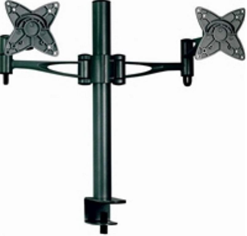 Astrotek Monitor Stand Desk Mount 36CM Arm For Dual Screens 13'-27' 15KG 30° Tilt 180° Swivel 360° Rotate Vesa 75X75 100X100