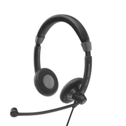 Sennheiser SC70 Usb MS Black Double Sided Corded Headset With Usb Connect,