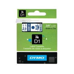 Dymo Blue On WHT 9MM X7M Tape