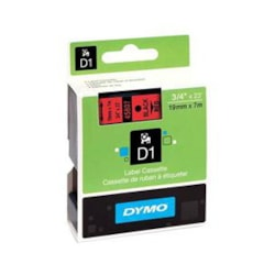 Dymo BLK On Red 19MMX7M Tape