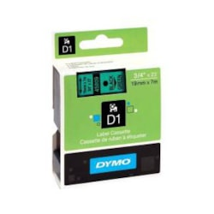 Dymo BLK On GRN 19MMX7M Tape