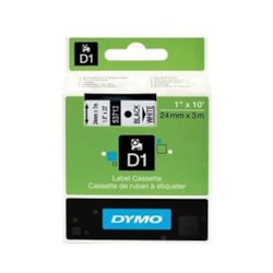 Dymo BLK On WHT 24MMX7M Tape