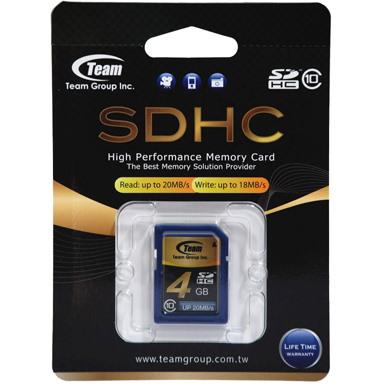 Team SDHC 4GB Class 10 SD Card