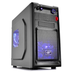 Deepcool Smarter Mid Tower Case With Led Includes 2X Blue 120MM Led Fans