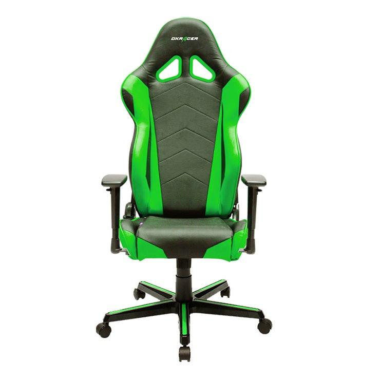 DXRacer Racing Series Gaming Chair, Neck/Lumbar Support - Black &Amp; Green
