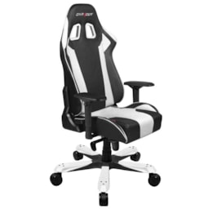 DXRacer KS06 Series Gaming Chair, Neck/Lumbar Support - Black &Amp; White