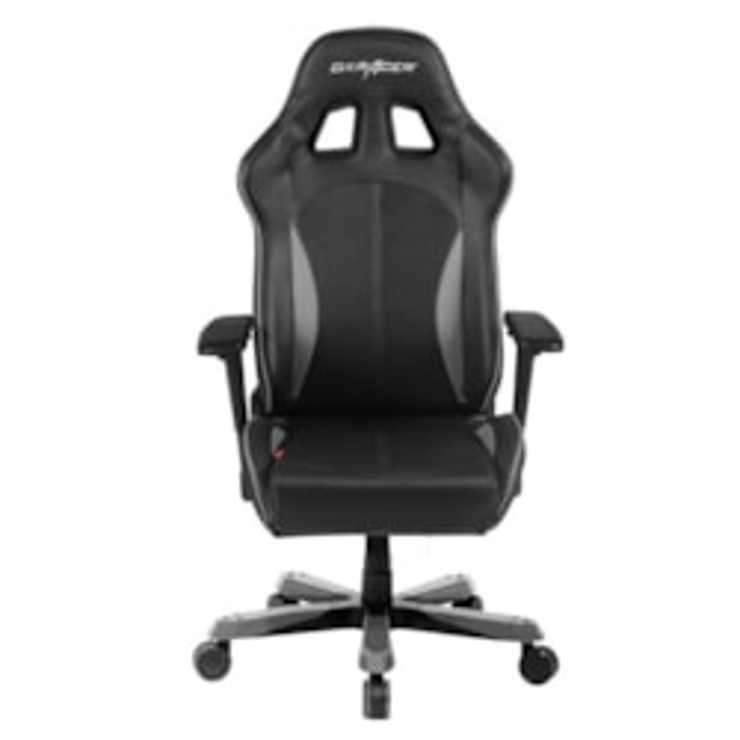 DXRacer KS57 Series Gaming Chair, Neck/Lumbar Support - Black &Amp; Carbon Grey