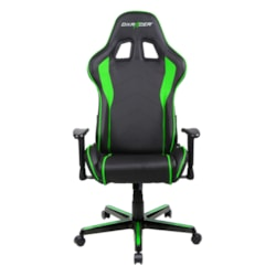DXRacer F Series Gaming Chair, Sparco Style, Neck/Lumbar Support - Black &Amp; Green